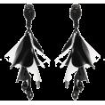 Doozer  - black and white earrings - Earrings -