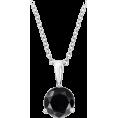 HalfMoonRun - black diamond pendant necklace - Necklaces -