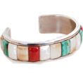 lence59 - bracelet with cobbled coral, turquoise a - Bracelets - $1,800.00