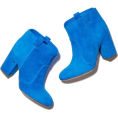 Carolyn  - bright blue suede ankle booties - Čizme -