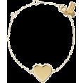 beautifulplace - demi fine heart line bracelet - Bracelets -