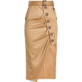 asia12 - elf-Portrait Asymmetric Cotton Skirt  - Skirts -