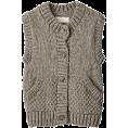 AMERICAN RAG CIE(ラグシー) - アメリカンラグ シー[AMERICAN RAG CIE] 【navasana】ペルーハンドニットベストグレー - Vests - ¥13,650  ~ $138.87