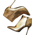 Doozer  - gold ankle boots - Boots -