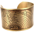 sandra  - golden astronomy cuff on Etsy - Bracelets -