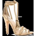 glamoura - gold sandal heel - Sandals -