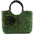 Doozer  - green straw bag - Hand bag -