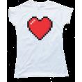 Doozer  - heart shirt - Majice - kratke -