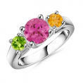 Angara - Three Stone Ring - Rings - $647.99