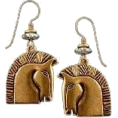 jessica - Laurel Burch horse earings - Earrings -