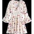 FECLOTHING -  lace flared sleeve chiffon dress - Dresses - $27.99