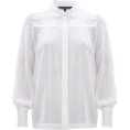 leatrendme - FRENCH CONNECTION- Silk Shirt  - Long sleeves shirts - $128.00