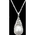 HalfMoonRun - mabe pearl pendant necklace - Necklaces -