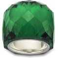 majakovska - swarovski  emerald - Rings -