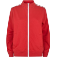 DotingSage - newlookRed Contrast Stripe Sleeve Zip F  - Jacket - coats - £15.99  ~ $24.78