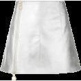 spabrah - paco rabanne, silver, a-line, mini - Skirts -