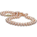HalfMoonRun - pink pearl necklace - Necklaces -