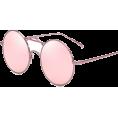 HalfMoonRun - pink round sunglasses - Sunčane naočale -