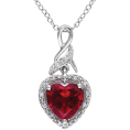 HalfMoonRun - red diamond pendant necklace - Necklaces -