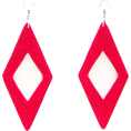limelightbyks - red rhombus - Earrings -