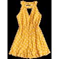 lence59 - Sleeveless Ruffles Polka Dot Romper - Overall - $20.99