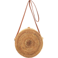 beautifulplace - round straw bag - Hand bag -