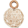 octobermaze  - round straw handbag - Hand bag -