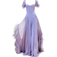 vespagirl - satinee lavender Zac posen - sukienki -