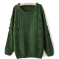 sandra  - sheinside green jumper - Pullovers -