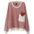 sandra  - sheinside sweater in red - Pulôver -