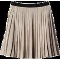 Anita An - SILK BLEND STRIPED SKIRT - Skirts -