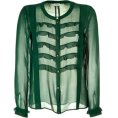 Doña Marisela Hartikainen - Long sleeves shirts Green - Long sleeves shirts -
