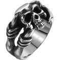 Evan James - skull ring (sol) - Кольца -