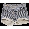 HalfMoonRun - striped denim shorts - Shorts -