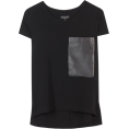 Lieke Otter - T-shirt Leather Details - T-shirts -