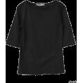 Kagure(かぐれ) - かぐれ ボートネック6分袖Tシャツ - T-shirts - ¥4,725  ~ $48.07