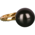webmaster(s) @trendMe - Gunmetal Single Pearl Ring - Prstenje -