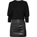 webmaster(s) @trendMe - TheoryWool and leather dress - Dresses -