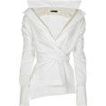 lence59 - white blouse - Long sleeves shirts -