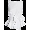 lence59 - white blouse - Рубашки - короткие -