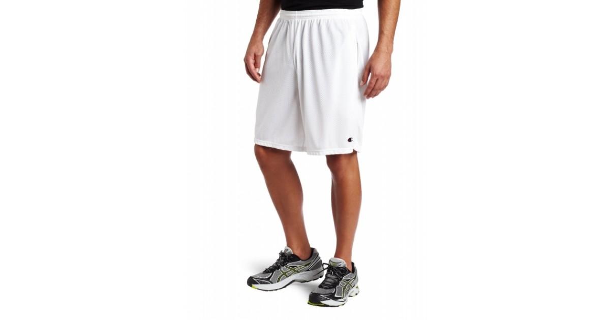 white champion mesh shorts