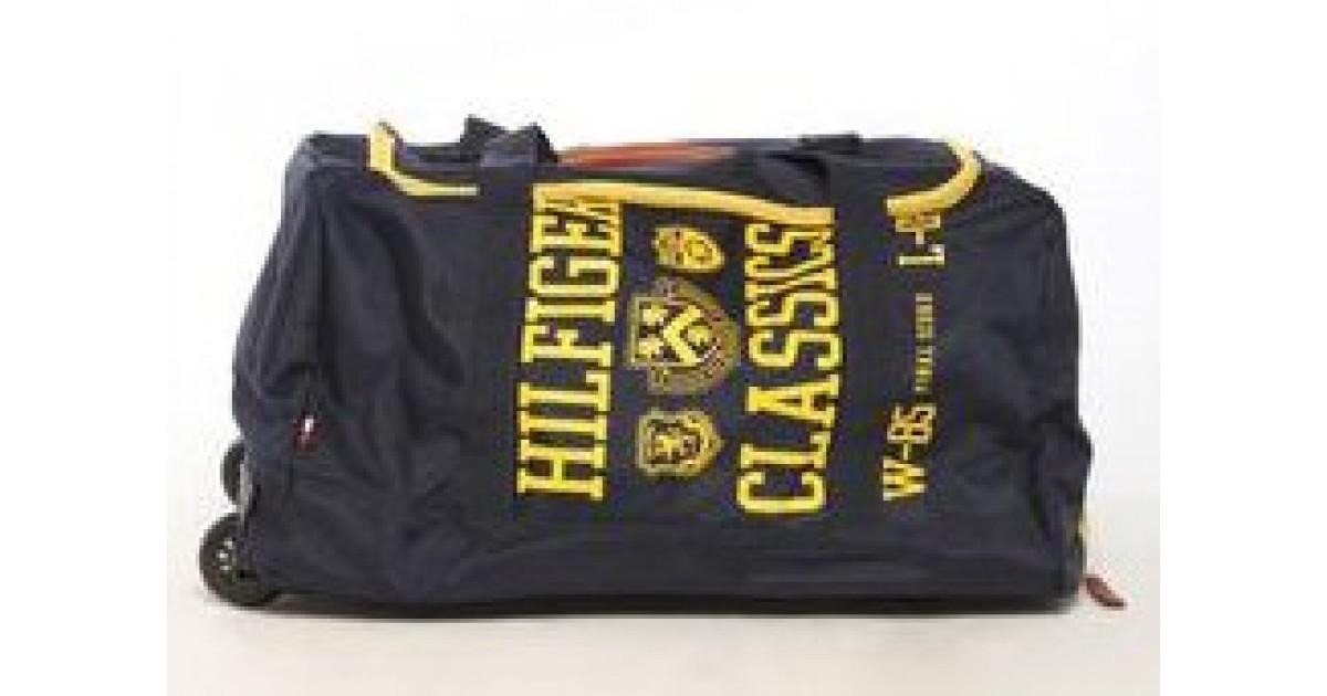 Tommy Hilfiger Varsity Duffel Travel Bag on Wheels