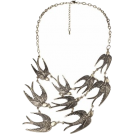 sandra  Necklaces -  1940s swallow silver necklace