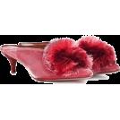 beautifulplace 经典鞋 -  AQUAZZURA Powder Puff velvet mules