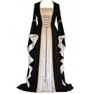 Abaowedding Obleke -  Abaowedding Women's Renaissance Medieval Costume Dress Lace up Irish Over Long Dresses Cosplay Retro Gown
