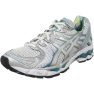 ASICS Tenisówki -  ASICS Women's GEL-Kayano 17 Running Shoe White/Silver/Turquoise