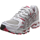 ASICS Sneakers -  ASICS Women's GEL-Nimbus 12 Running Shoe White/Titanium/Raspberry