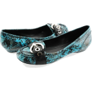 BCBGeneration Moccasins -  BCBGeneration Dinia Turquoise Snake Loafer Shoes