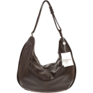 Bruno Rossi Bag -  BRUNO ROSSI Italian Made Dark Brown Calf Leather Large Hobo Crossbody Bag