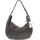 Bruno Rossi Bag -  BRUNO ROSSI Italian Made Gray Calf Leather Large Hobo Crossbody Bag